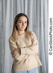 girl in a sweater