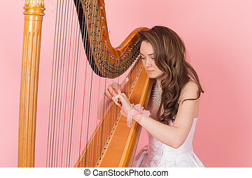 portrait of a girl playing music