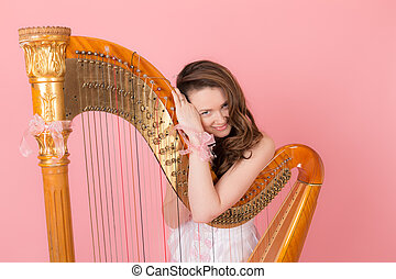 girl with a musical instrument