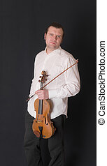 man with viola