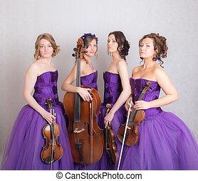 portrait of a musical quartet