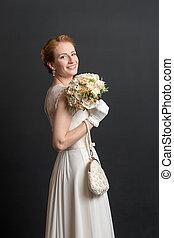 studio portrait of the bride