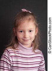 studio portrait of the girl
