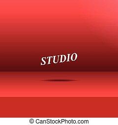 studio, salle, vide