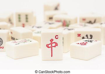studio- schuß, mahjong, stücke