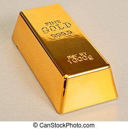 Studio Shot Of 1kg Gold Bar -