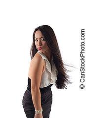 Studio shot of a beautiful sexy young asian woman