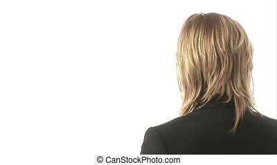 Studio Shot of A Businessman - Stock Video Footage of a...