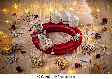 Studio shot of a nice advent wreath