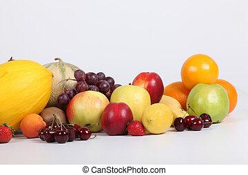 Studio shot of a variety of fresh fruit