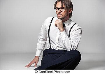 Studio shot of an elegant man