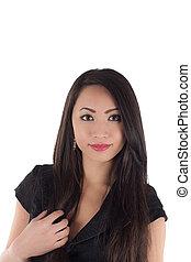 Studio shot of beautiful sexy young asian woman