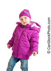 child in winter clothing