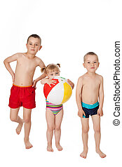 children in swimsuits