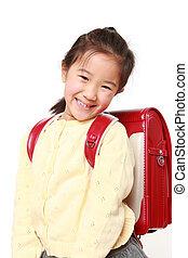 Japanese School Girl - studio shot of Japanese School Girl...