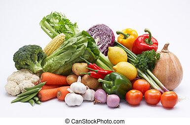 vegetable - studio shot of vegetable isolated on white
