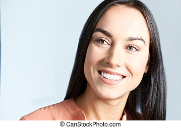 Studio Shot Of Woman With Beautiful Smile