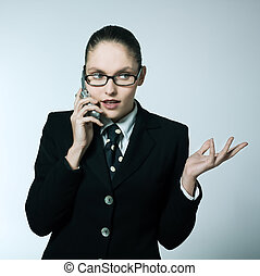 business woman on the telephone