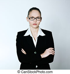 serious business woman