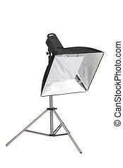 studio, softbox, stroboscope