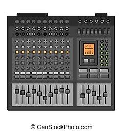 Studio Sound Mixer. Music Equalizer Console. Vector