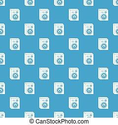 Studio speakers pattern vector seamless blue