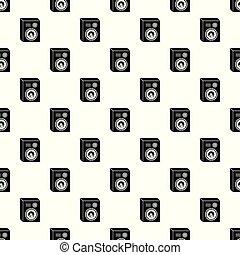 Studio speakers pattern vector seamless