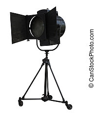 Studio spotlight lighting equipment isolated on white