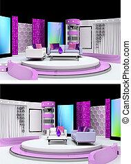 studio télé, conception