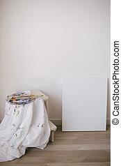studio, tela, arte, pittura, vuoto