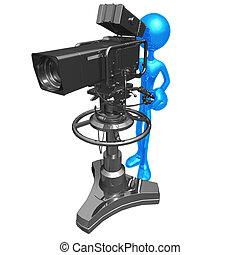 Studio Television Camera - 3D Concept And Presentation...