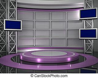 studio, telewizja