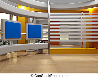 3d studio for green chroma tv