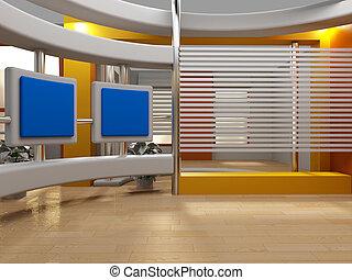 studio tv - 3d studio for green chroma tv