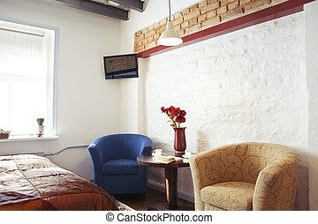 studio-type, casa, ospite