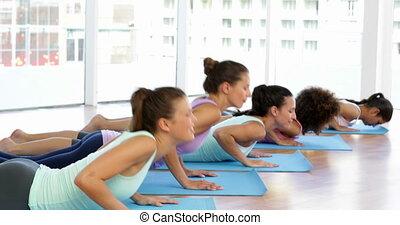 studio yoga, classe, fitness