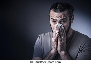 studioshot, allergie, homme