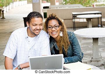 studious couple