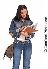 studious female student