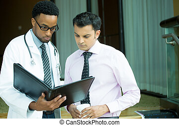 Studious healthcare professionals - Closeup portrait of...