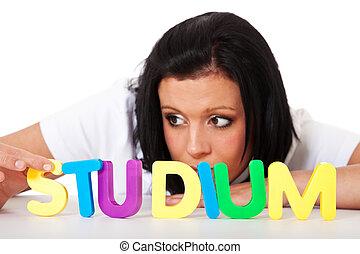 studium, study), (engl.:
