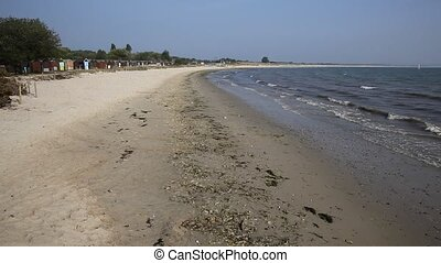Studland knoll beach Dorset England UK located between...