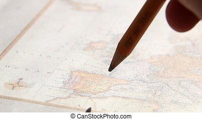 Study and travel text. Thomas Jefferys map 1775.