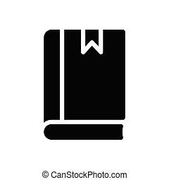 study  glyph flat icon
