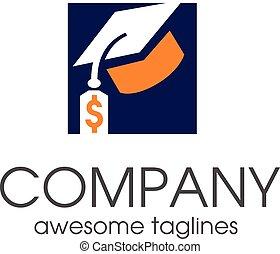study insurance tax logo - Student loan financial logo...