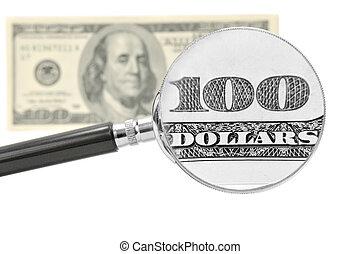 Study of hundred-dollar bills