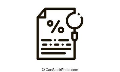 Study of Interest Related Documentation Icon Animation. black Study of Interest Related Documentation animated icon on white background