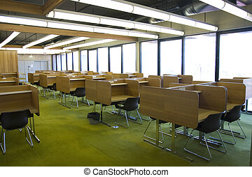 Study room inside the main library at QUT