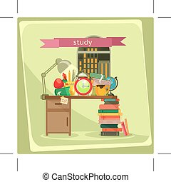 Study vector illustration