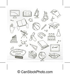 Studying and education icons